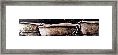 Threeinarow Framed Print by Julie Dalton Gourgues
