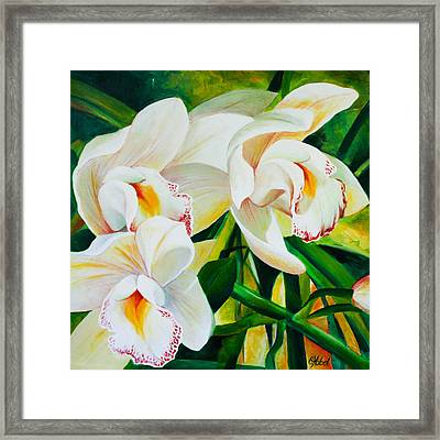 Threes A Crowd Framed Print by Chris Hobel