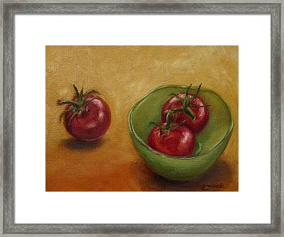 Three's A Crowd Framed Print by Tahirih Goffic