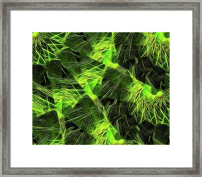 Threshed Green Framed Print by Ron Bissett