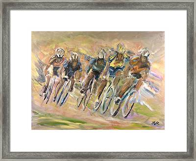 Thrill Of The Chase Framed Print by Jude Lobe