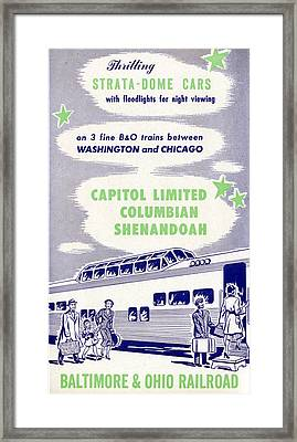Thrilling Strata-dome Cars Framed Print