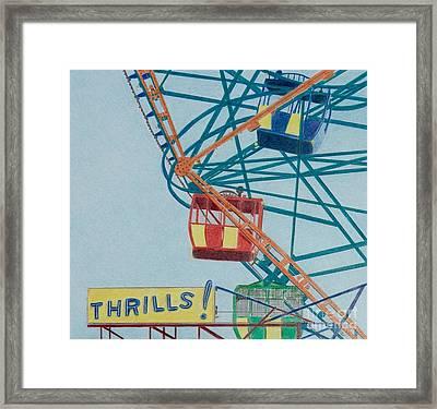 Thrills Framed Print