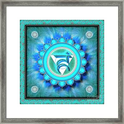 Throat Chakra - Series 1 Framed Print