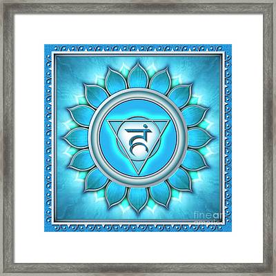 Throat Chakra - Series 2 Framed Print