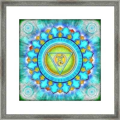 Throat Chakra - Series 3 Framed Print