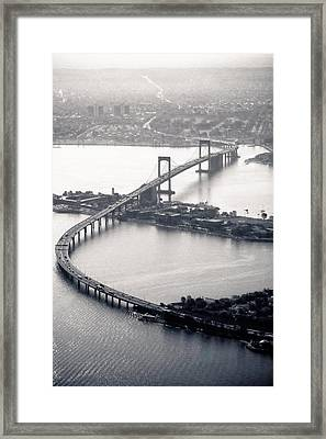 Throgs-neck Bridge - Nyc Framed Print by Original photography by Neos Design - Cory Eastman
