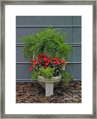 Throne Garden Framed Print