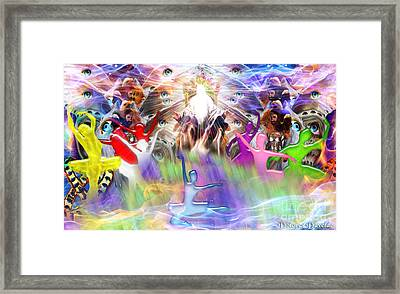 Throneroom Dance Framed Print by Dolores Develde