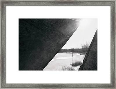 Framed Print featuring the photograph Through A Bird Blind by Sue Collura