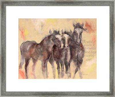 Through A Horses Ears Framed Print