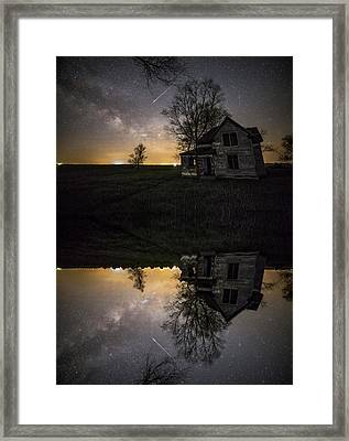 Framed Print featuring the photograph Through A Mirror Darkly  by Aaron J Groen
