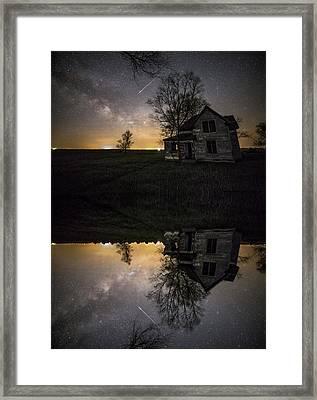Through A Mirror Darkly  Framed Print by Aaron J Groen