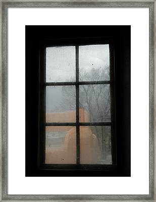 Framed Print featuring the photograph Through A Museum Window by Marilyn Hunt