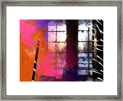 Through A Window 1 Framed Print by Janis Kirstein
