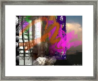 Through A Window 3 Framed Print by Janis Kirstein
