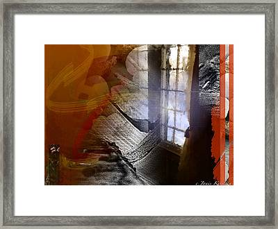 Through A Window 4 Framed Print by Janis Kirstein