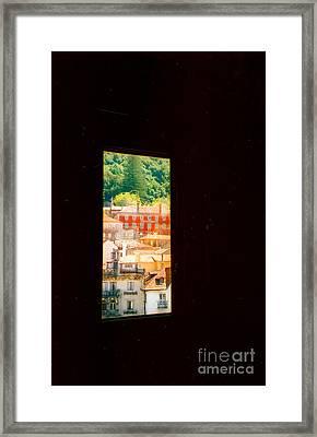Through A Window Darkly Framed Print by Andrea Simon