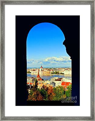 Through An Arch In Budapest Framed Print by Madeline Ellis