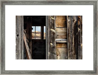 Through Cabin Window Framed Print