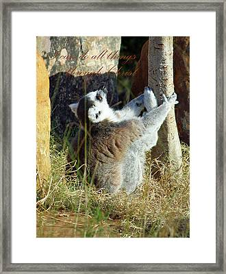Through Christ Framed Print