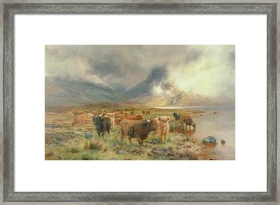 Through Glencoe Framed Print by Louis Bosworth Hurt
