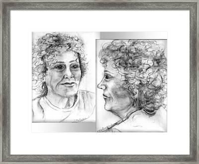 Through Her Eyes Framed Print by Carol Allen Anfinsen