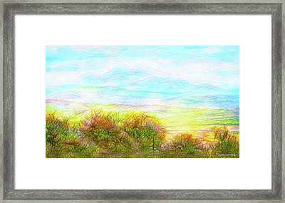 Through Mountain Mists Framed Print