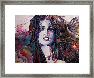 Framed Print featuring the painting Through My Mind by Geni Gorani