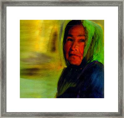 Framed Print featuring the painting Through Native Eyes by FeatherStone Studio Julie A Miller
