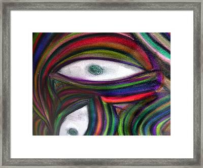 Through Other's Eyes Framed Print by Dawn Hough Sebaugh