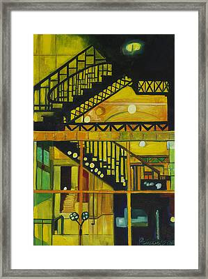 Framed Print featuring the painting Through Parisian Glass by Patricia Arroyo