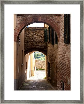 Through The Alleys Framed Print by Rae Tucker
