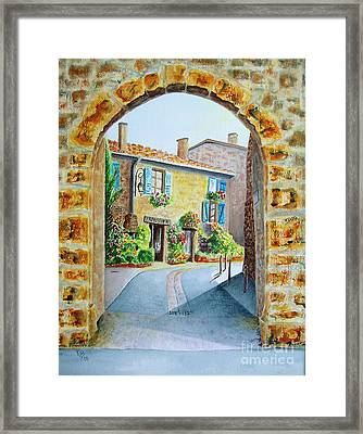 Through The Arch Framed Print