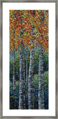Through The Aspen Trees Diptych 2 Framed Print