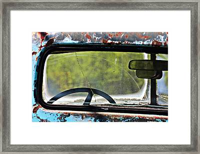 Through The Back Window- Antique Chevrolet Truck- Fine Art Framed Print