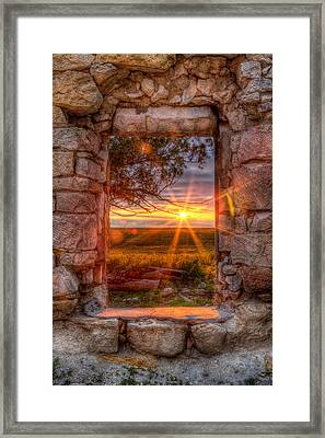 Through The Bedroom Window Framed Print by Thomas Zimmerman