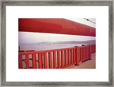 Through The Bridge View Of San Francisco Framed Print by Steve Ohlsen