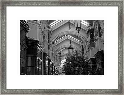 Through The Building Framed Print by M Valeriano