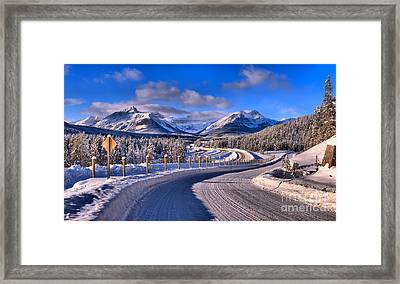 Through The Canadian Rocky Mountains Framed Print by Adam Jewell