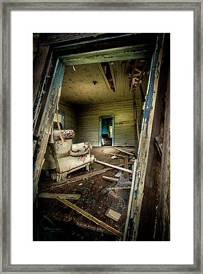 Through The Crooked Window Framed Print