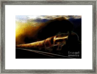 Through The Dark Of Night Rises The New Morning Glow . Such Is The Life Of The Old Engine Framed Print