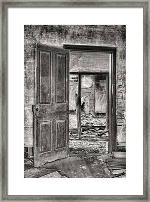 Through The Doors Of Time Framed Print by JC Findley