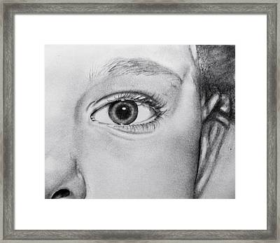 Through The Eye Framed Print by Andrea Realpe