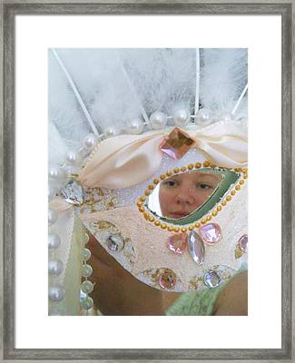 Through The Eye Of The Mask Framed Print by Scarlett Royal