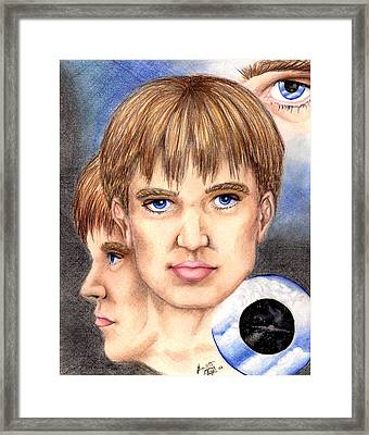 Through The Eyes Of Space And Time Framed Print by Scarlett Royal