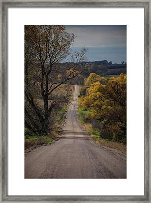 Through The Fall Framed Print