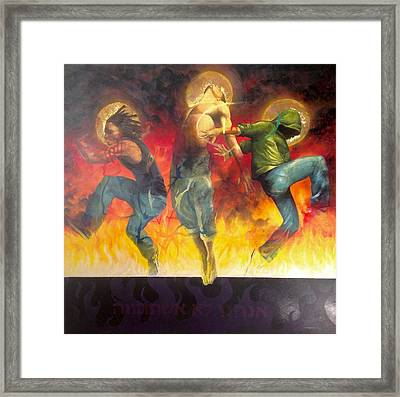 Framed Print featuring the painting Through The Fire by Christopher Marion Thomas