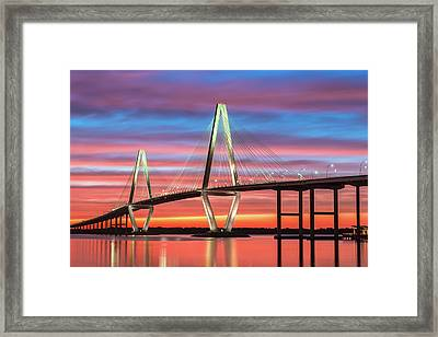 Framed Print featuring the photograph Through The Flame by Bernard Chen
