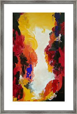 Through The Flame Framed Print by Nicole Lee